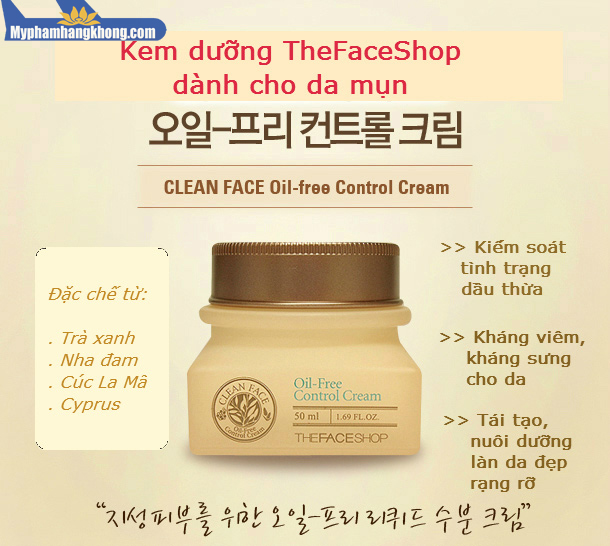Kem-Dưỡng-Da-Trị-Mụn-Clean-Face-Oil-Free-Control-Cream---The-Face-Shop-mphk2