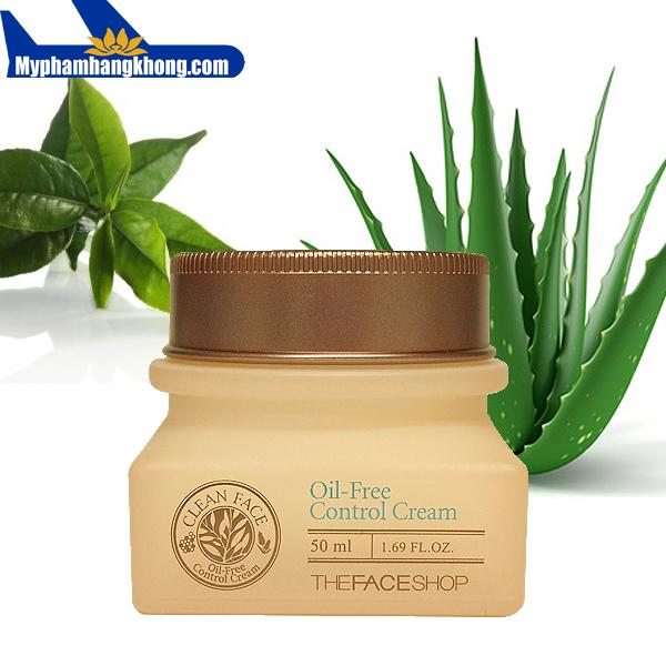 Kem trị mụn dưỡng da Clean Face oil Free Control Cream