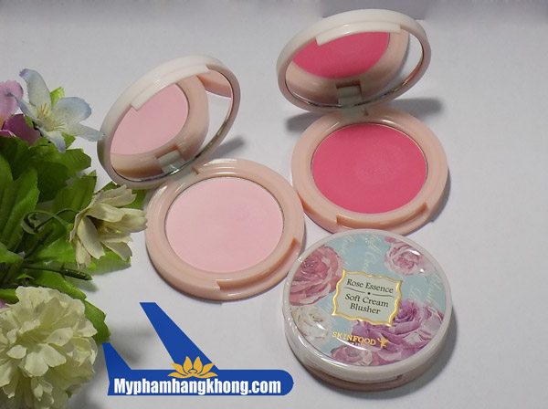 Phấn má hồng dạng kem rose essence soft cream blusher skinfood