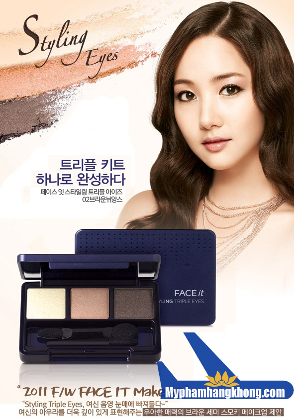 Phấn mắt ba màu The face shop Face It Styling Triple Eyes