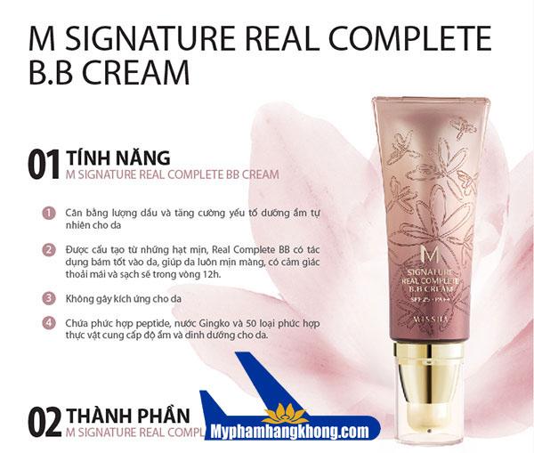 Kem BB Cream Hàn Quốc Missha Signature Real Complete