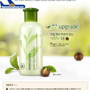 Nước hoa hồng từ trà xanh Innisfree Green Tea Fresh Skin