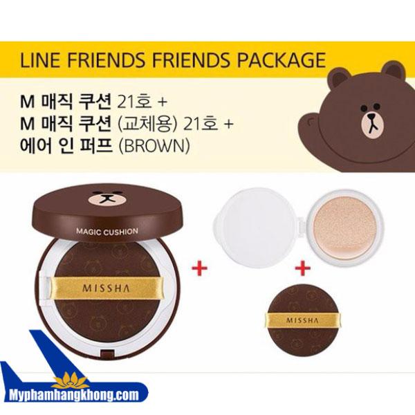 phan-nuoc-kiem-dau-missha-cushion-line-friends-gau-brown-2