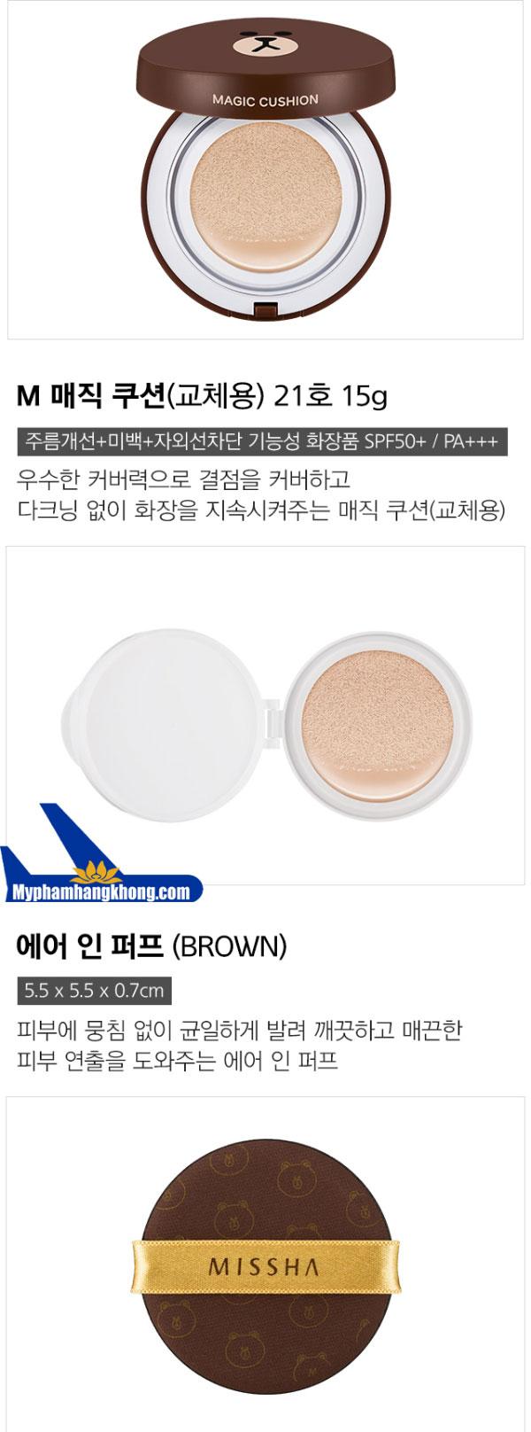 phan-nuoc-kiem-dau-missha-cushion-line-friends-gau-brown-3