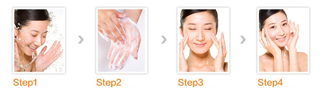 Hada-Labo-Facial-Foam-Series-usage