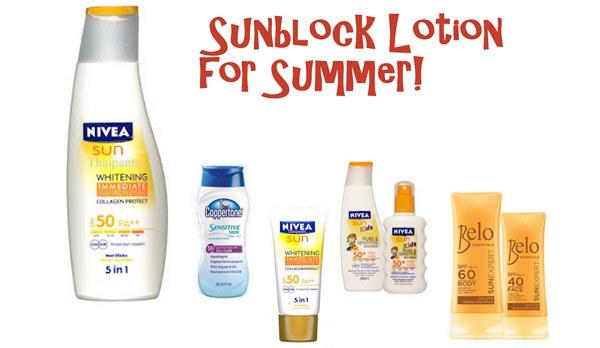 Sunblock và Sunscreen