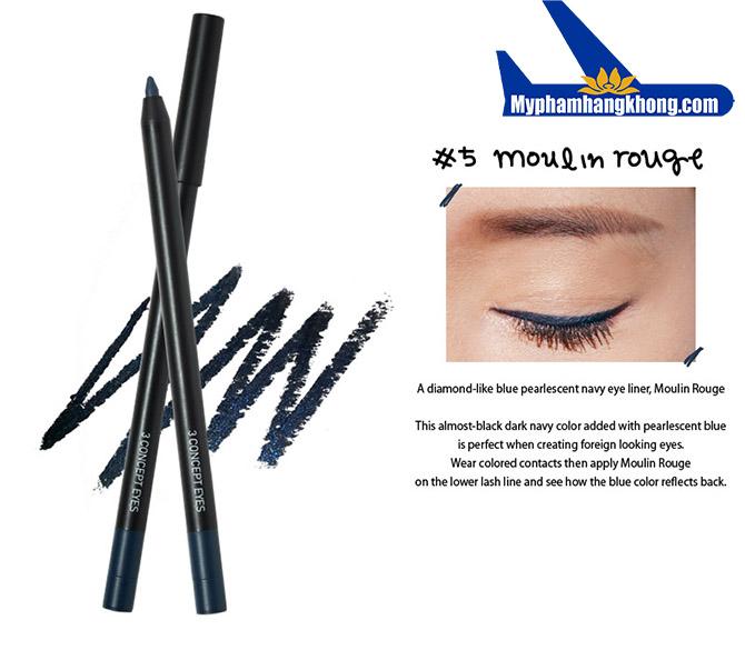 Bút chì kẻ mắt dạ 3CE Creamy Water Proof Eye Liner
