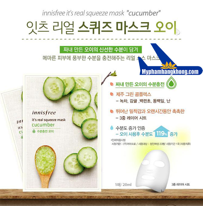 Innisfree-It's-Real-Squeeze-Mask-Cucumber