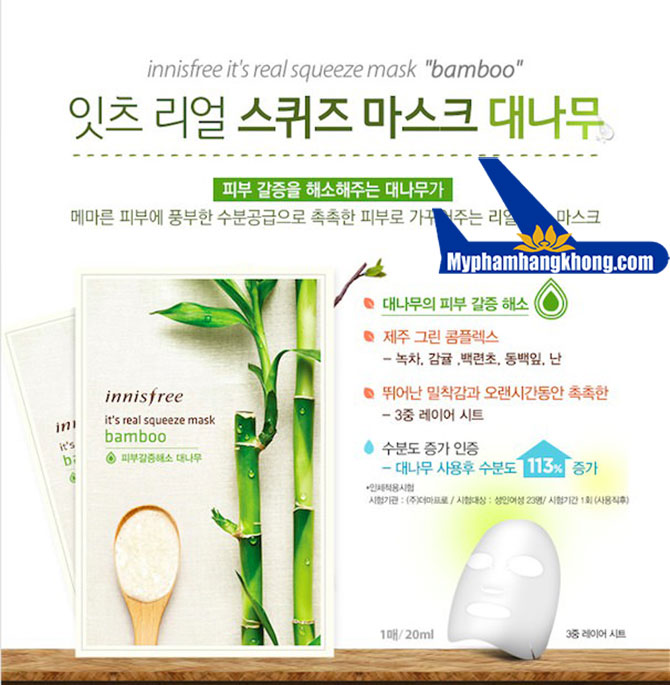Mặt-Nạ–Innisfree-It's-Real-Squeeze-Bamboo