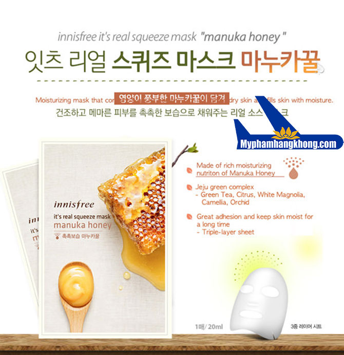 Mặt-Nạ-Innisfree-It's-Real-Squeeze-Honey