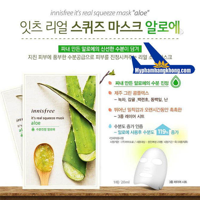 Mặt-Nạ-Innisfree-It's-Real-Squeeze-Mask-aloe