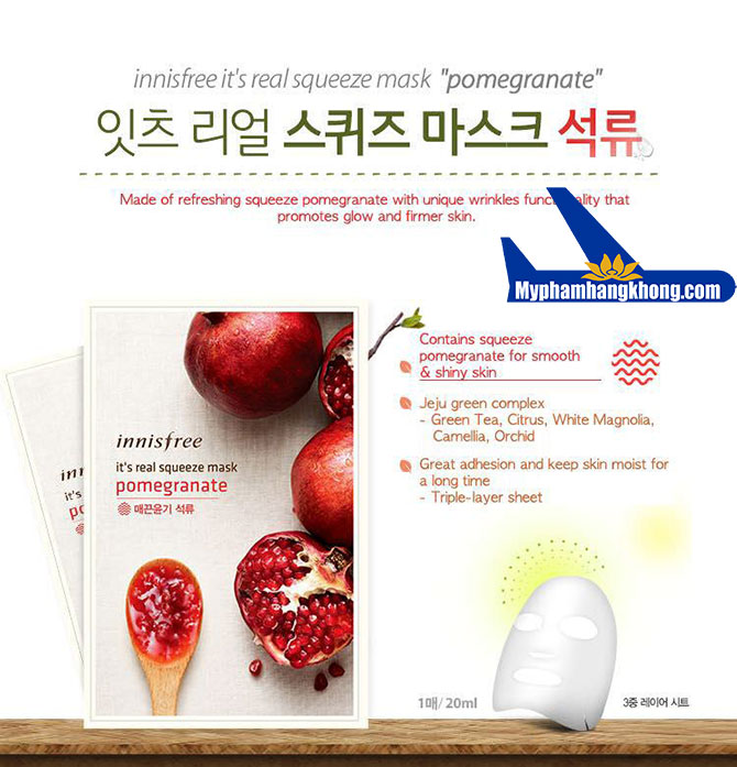 Mặt-Nạ-Innisfree-It's-Real-Squeeze-Mask-pomegranate