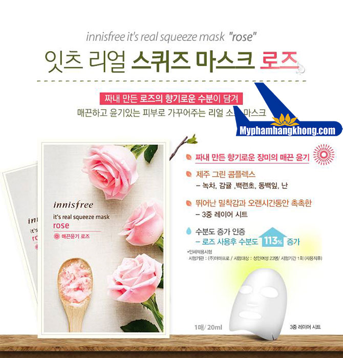 Mặt-Nạ-Innisfree-It's-Real-Squeeze-Mask-ros
