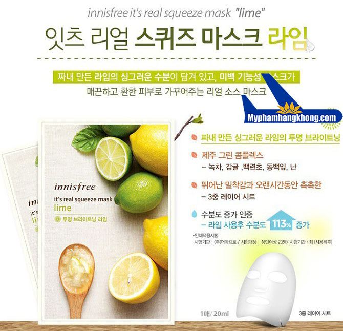 Mặt-Nạ-i-Innisfree-It's-Real-Squeeze-Lime