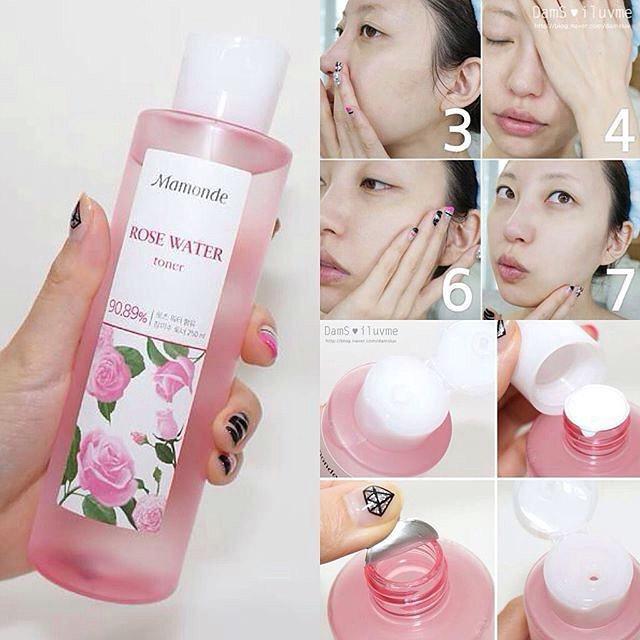 nước hoa hồng Mamonde Rose Water Toner 150ml