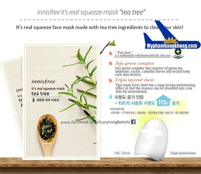 mặt-nạ-tre-Innisfree-It's-real-squeeze-mask-Tea-Tree