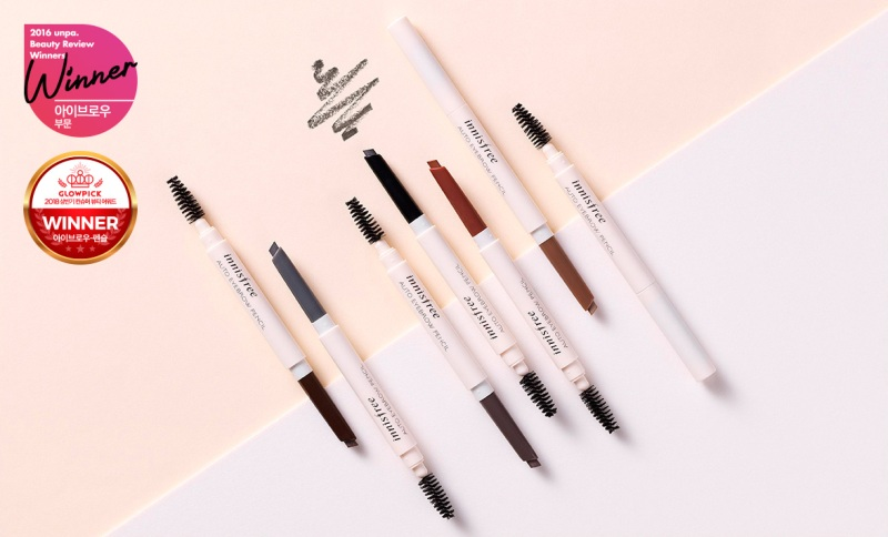 Chi ke may hai dau Innisfree Auto Eyebrow Pencil Han Quoc 5