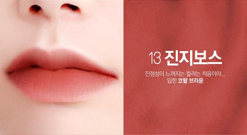 Kết quả hình ảnh cho bbia last velvet lip tint #13