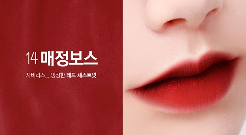 Kết quả hình ảnh cho last velvet lip tint 14