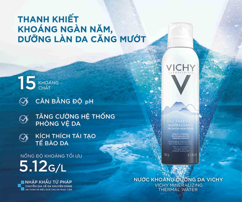 Xit khoang Vichy 150ml (Eau Thermale) 6