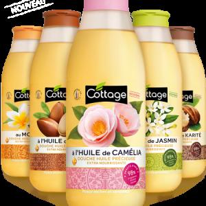 Sữa Tắm Tinh Dầu Dưỡng Da Cottage 560ml Pháp